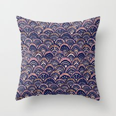 Mermaid Medallion Autumn Blush Throw Pillow