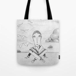 Reading enhances creativity Tote Bag