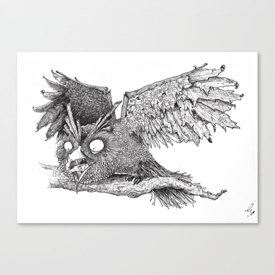 Woodland Owl Canvas Print