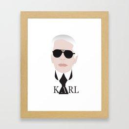 Karl Lagerfeld Framed Art Print