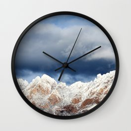 Desert Mountains with Snow-Barbara Chichester Wall Clock