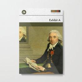 Exhibit A (MetaBook) Metal Print