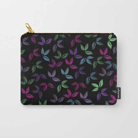 Flower Pattern X Carry-All Pouch