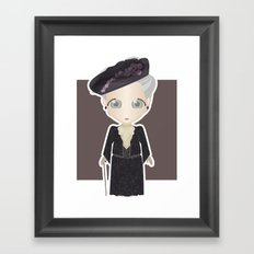 Violet Crawley, Dowager Countess of Grantham Framed Art Print