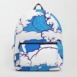 Waves of the high tide Backpack