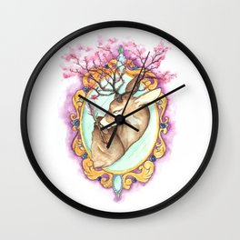 Trophy: Abstract Mounted Deer Wall Clock