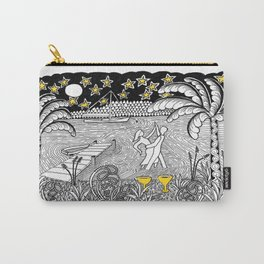 Beach Dancing under Stars Zentangle Style Carry-All Pouch