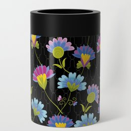 Decorative Floral Pattern Can Cooler