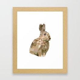Rabbit Bunny  Geometric animal art Framed Art Print