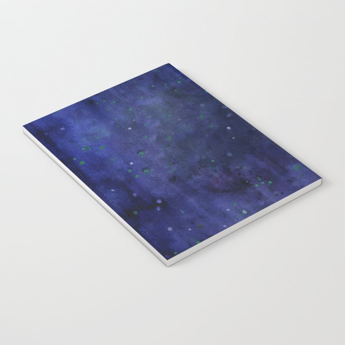 Galaxy Watercolor Nebula Texture Night Sky Stars Notebook