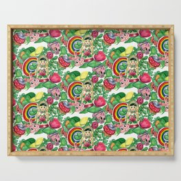 Colorful Classroom Serving Tray