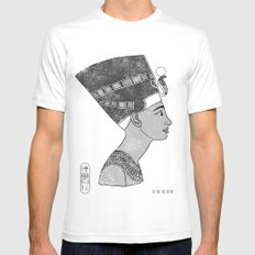 Queen Nefertiti 2X-LARGE Mens Fitted Tee White