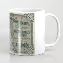 Vintage German East Africa Currency Coffee Mug