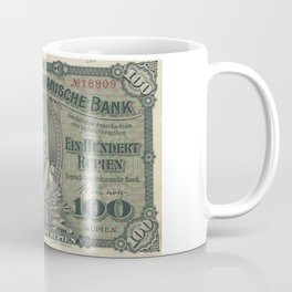 Vintage German East Africa Currency Coffee Mug