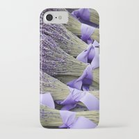 lavender iPhone & iPod Cases featuring Lavender by Elysa Darling