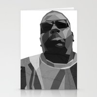 notorious big Stationery Cards featuring Notorious BIG by Joshua Baron