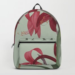 Victoria's Garden, feat. Amaryllis Formosissima, Magazine Cover Backpack