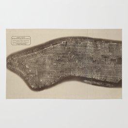 New York, Manhattan, Vintage Map Rug