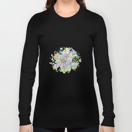 arrangement of flowers in pastel shades on a white background . illustration Long Sleeve T-shirt
