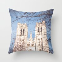 brussels Throw Pillows featuring Brussels Cathedral by Ghdv Grafias