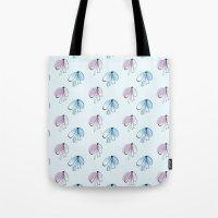 bows Tote Bags featuring Bows by Anastasiya Zhulina