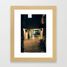 Alley Downtown Framed Art Print