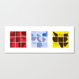 Red Blue Yellow Canvas Print