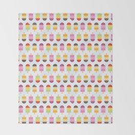 Kawaii Summer Ice Lollies / Popsicles Throw Blanket