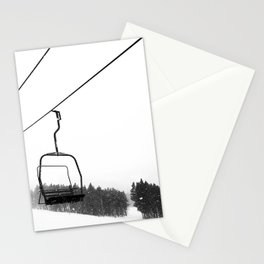 Ski Lifts Views Stationery Cards