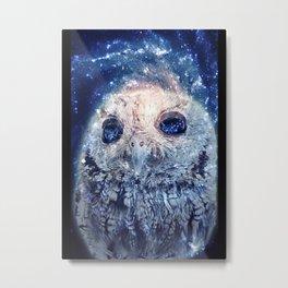 Space Owl Metal Print