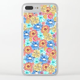 Flower Bed Clear iPhone Case