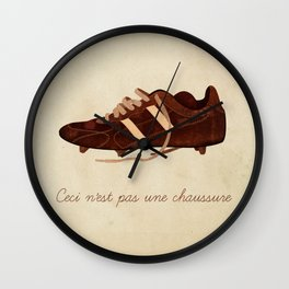 Ceci n'est pas une chaussure Wall Clock