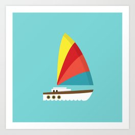 Sailboat II Art Print
