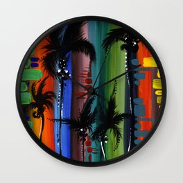 """COLOR IN PARADISE""  Wall Clock"