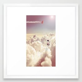 JUMPING IN FLUFFY R' Framed Art Print