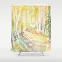 forrest Shower Curtains featuring Forrest by Susie McColgan