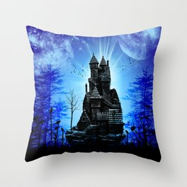 Castle in the night  Throw Pillow