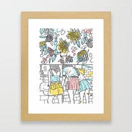 Spring speech Framed Art Print