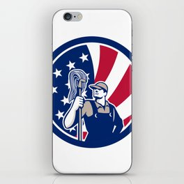 American Industrial Cleaner USA Flag Icon iPhone Skin