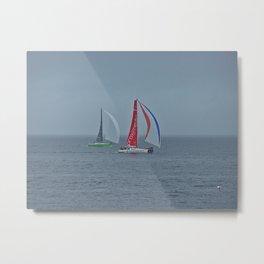 part 3 of 4 of Sailing Battle 42-56  - Transat Quebec St-Malo Metal Print