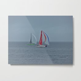 part 3 of 4 of Sailing Battle 42-56  - Transat Quebec St-Malo Metal Print