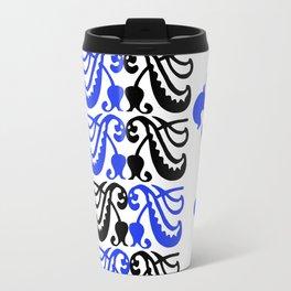 Fluer de Lis Custom Blue Travel Mug