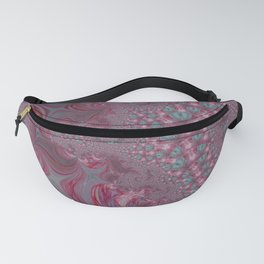 Raspberry Swirl - Pink Fractal - Abstract Art by Fluid Nature Fanny Pack