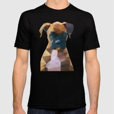 The Boxer - Dog Portrait Mens Fitted Tee Black LARGE