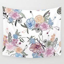 Queenie Thrift Hand Drawn Flower Wall Tapestry