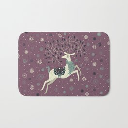 Prancing Reindeer Bath Mat
