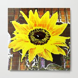 Sunflower Love Metal Print