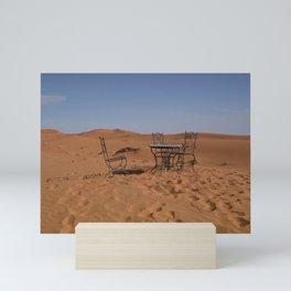 Desert morning Mini Art Print