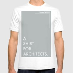 BDFD - Architects MEDIUM Mens Fitted Tee White