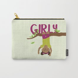Positively girly - black tree girl Carry-All Pouch